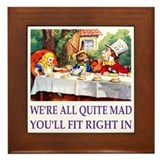 WE'RE ALL MAD - PURPLE Framed Tile