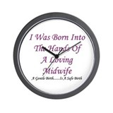 """Hands of A Midwife"" Baby Girl Wall Clock"