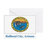 Bullhead City AZ Flag Greeting Card