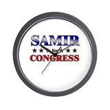 SAMIR for congress Wall Clock