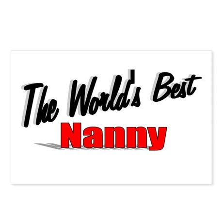 """The World's Best Nanny"" Postcards (Package of 8)"