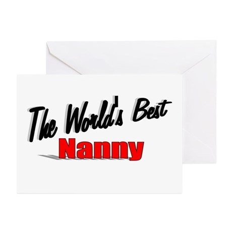 """The World's Best Nanny"" Greeting Cards (Pk of 20)"