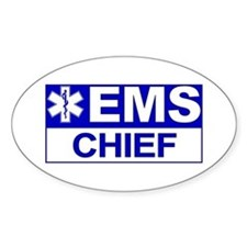EMS Chief Oval Decal