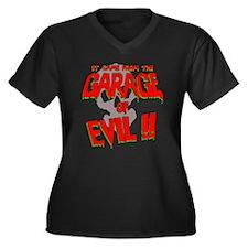 Cute Spooky Women's Plus Size V-Neck Dark T-Shirt