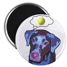 Ball-obsessed Lab Magnet