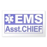 EMS Assistant Chief Rectangle Decal