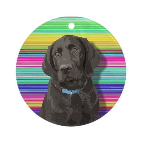 Fun-Loving Labs Ornament (Round)