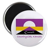 "Countryside KS Flag 2.25"" Magnet (10 pack)"