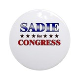 SADIE for congress Ornament (Round)