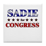 SADIE for congress Tile Coaster