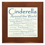 Cinderella Around the World  Framed Tile