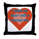 I Share My Heart Throw Pillow