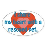 I Share My Heart Oval Sticker