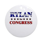 RYLAN for congress Ornament (Round)