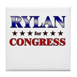 RYLAN for congress Tile Coaster