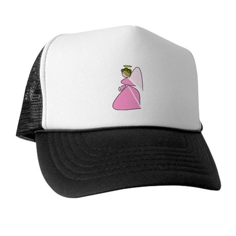 Pretty in Pink Angel Trucker Hat