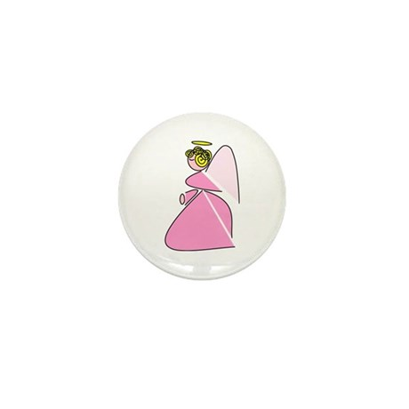 Pretty in Pink Angel Mini Button (100 pack)