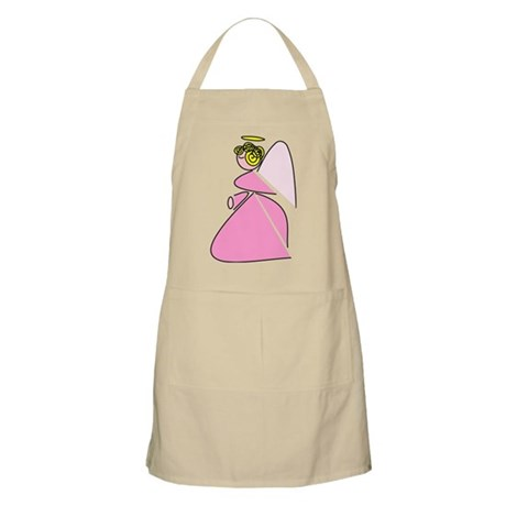 Pretty in Pink Angel BBQ Apron