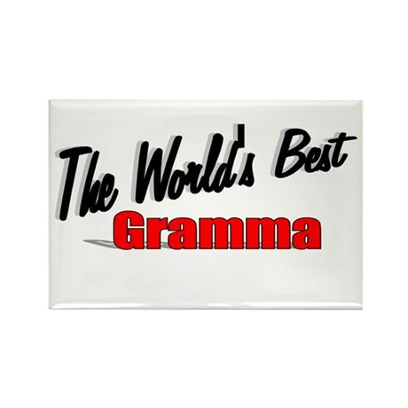 """The World's Best Gramma"" Rectangle Magnet"