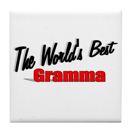 """The World's Best Gramma"" Tile Coaster"