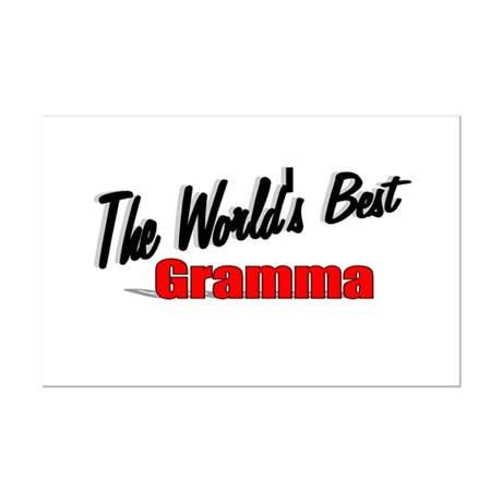 """The World's Best Gramma"" Mini Poster Print"