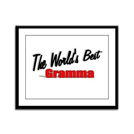 """The World's Best Gramma"" Framed Panel Print"