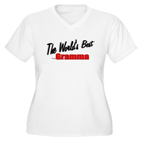 """The World's Best Gramma"" Women's Plus Size V-Neck"