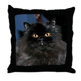 BLACK PERSIAN CAT PILLOW