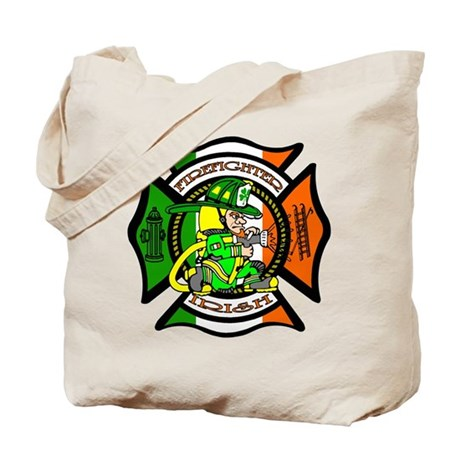 Firefighter-Irish Tote Bag