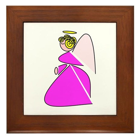 Pretty Angel Framed Tile