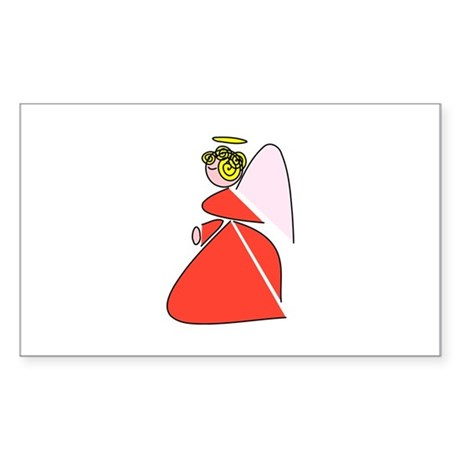 Pretty Angel Rectangle Sticker