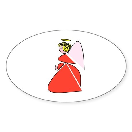 Pretty Angel Oval Sticker