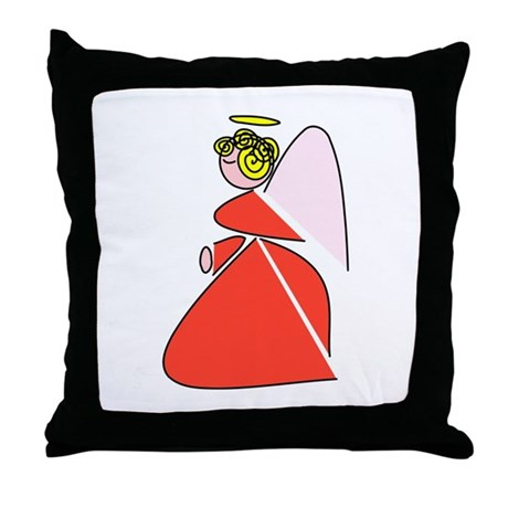 Pretty Angel Throw Pillow