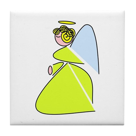 Pretty Angel Tile Coaster