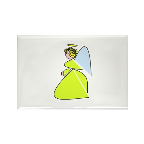 Pretty Angel Rectangle Magnet