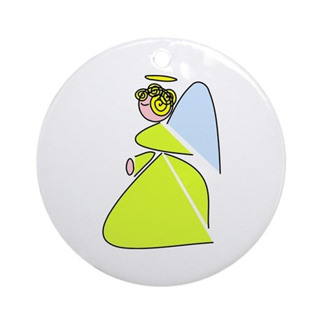 Pretty Angel Ornament (Round)