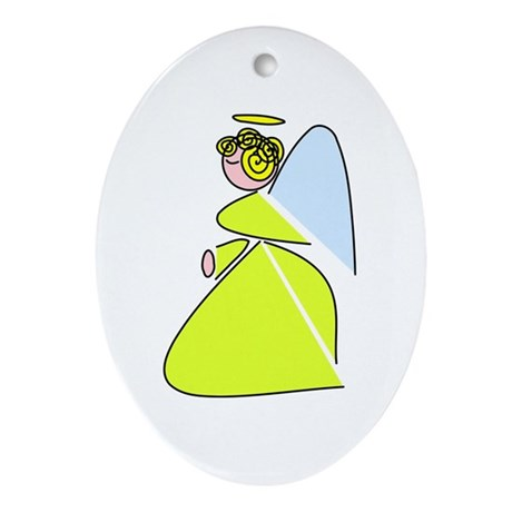 Pretty Angel Oval Ornament
