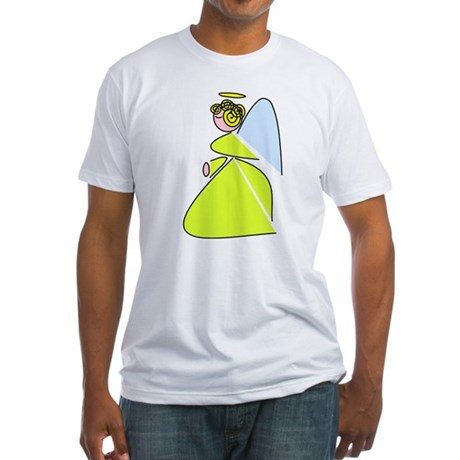 Pretty Angel Fitted T-Shirt