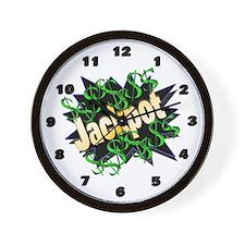 Jackpot Winner Wall Clock