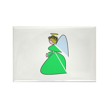 Pretty Angel Rectangle Magnet (10 pack)