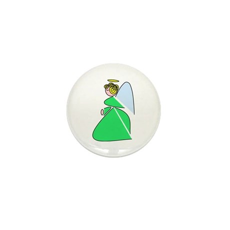 Pretty Angel Mini Button
