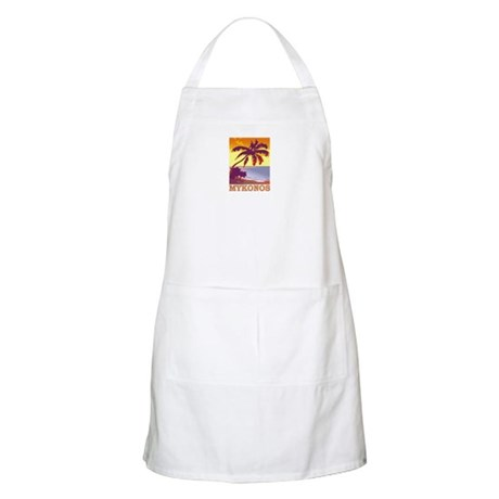 Mykonos, Greece BBQ Apron