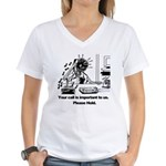On Hold Zombie Women's V-Neck T-Shirt