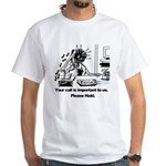 On Hold Zombie White T-Shirt