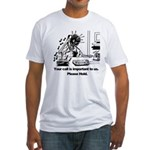 On Hold Zombie Fitted T-Shirt