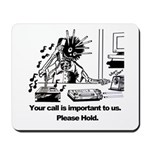 On Hold Zombie Mousepad
