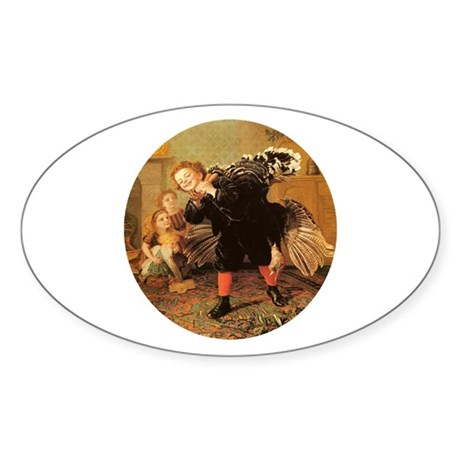 Vintage Thanksgiving Oval Sticker