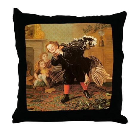 Vintage Thanksgiving Throw Pillow
