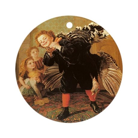 Vintage Thanksgiving Ornament (Round)