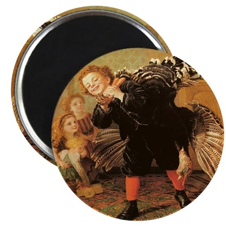 "Vintage Thanksgiving 2.25"" Magnet (100 pack)"